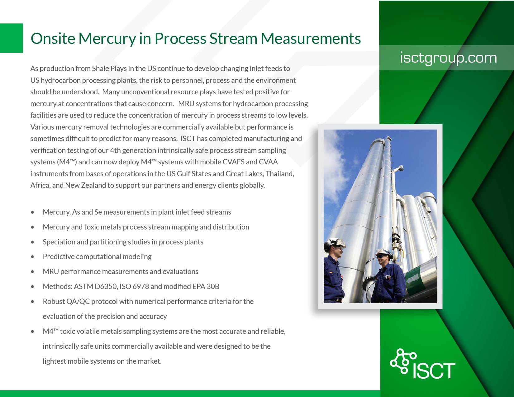 Onsite Mercury in Process Stream Measurements